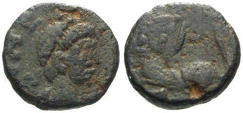 Ancient Coins - aF/aF Leo I AE4 / Lion