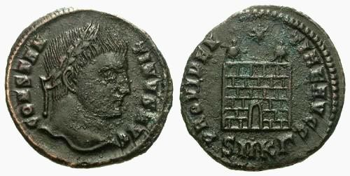 Ancient Coins - aF/F Constantine the Great / Campgate