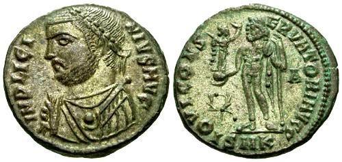 Ancient Coins - EF/EF Licinius Silvered Follis / Jupiter