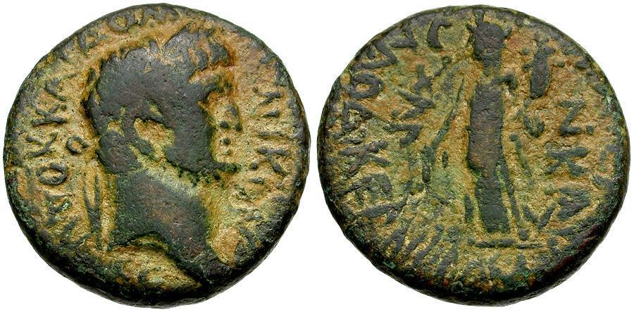Ancient Coins - Domitian. Seleucis and Pieria. Laodicea ad Mare Æ23 / Tyche of Laodicea