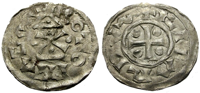 World Coins - France. Count of Rouen. Richard I the Fearless (AD 942-996) AR Denier