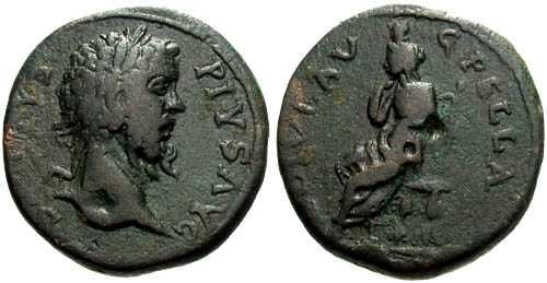 Ancient Coins - VF/aVF Septimius Severus Colonial Bronze Pella