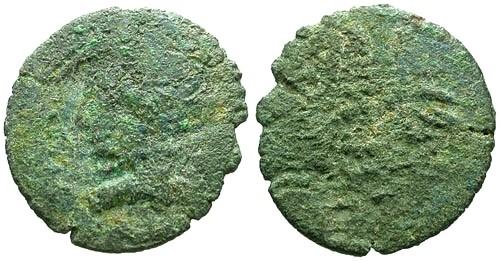 Ancient Coins - Sri Lanka Ancient Indo-Roman Imitative AE