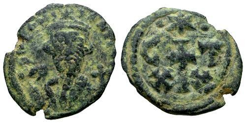 Ancient Coins - VF/VF Constans II AE Half Follis Carthage Mint