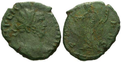 Ancient Coins - gF+/aF Carausius Follis / Pax