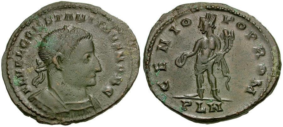 Ancient Coins - Constantine I the Great, as Caesar (AD 306-307) Æ Follis / Genius