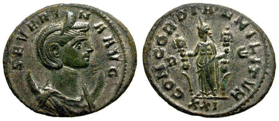 Ancient Coins - Severina Silvered Antoninianus / Concordia