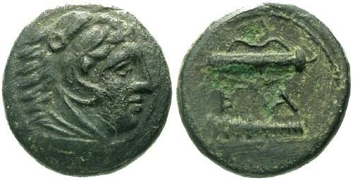 Ancient Coins - VF/VF Alexander the Great AE / Club and Bowcase