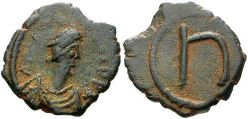 Ancient Coins - EF/EF Phocas AE Pentanummium / Five