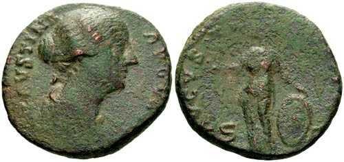 Ancient Coins - F/F Faustina II Dupondius / Venus