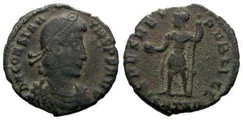 Ancient Coins - aVF Constantinus II AE3 / Emperor