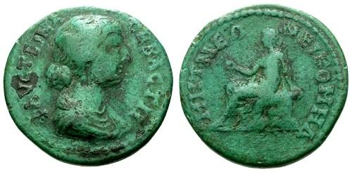 Ancient Coins - F/F Faustina II AE25 Bithynia Nicomedia
