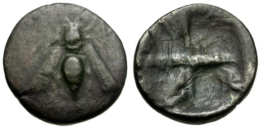 Ancient Coins - Ionia. Ephesos AR Hemidrachm / Bee