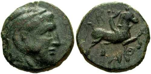 Ancient Coins - VF/VF Kassander AE17 / Horse and Rider