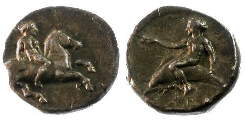Ancient Coins - VF/VF Calabria Tarentum AR Nomos