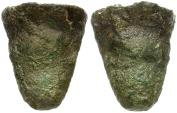 Ancient Coins - Sicily. Akragas. Cast Tooth Æ Hexas