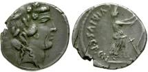 48 BC - Roman Republic. C. Vibius Pansa AR Denarius / Bacchus & Ceres