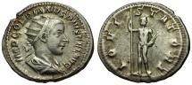 Ancient Coins - Gordian III AR Antoninianus / Jupiter