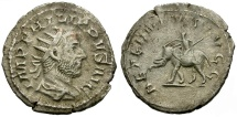 Ancient Coins - Philip I AR Antoninianus / Elephant and Mahout