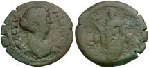 Ancient Coins - Faustina II. Egypt. Alexandria Æ Obol / Dattari Coin