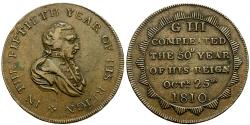 World Coins - England. George III Golden Jubilee Æ Medalet