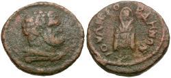Ancient Coins - Lydia. Gordus-Julia. Pseudo-autonomous Æ14 / Telesphoros