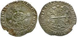 World Coins - Italian States. Naples and Sicily. Roberto d'Angio AR Gigliato