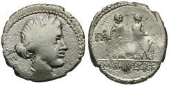 Ancient Coins - 86 BC - Roman Republic. M. Fannius and L. Critonius AR Denarius