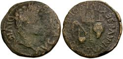 Ancient Coins - Augustus. Spain. Carthago Nova Æ28 / Priestly Implements