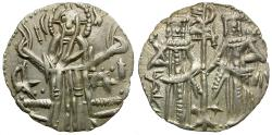 World Coins - Bulgaria. Emperor Ivan Alexander (AD 1331-1371) with his son and co-Emperor Michael Asen IV AR Grosh
