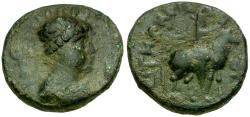 Ancient Coins - Kushan Kings of India. Soter Megas Æ Tetradrachm / King on Horseback