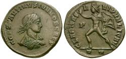 Ancient Coins - @@FAILMEZGER COLLECTION@@ **PLATE COIN** Constantine II as Caesar Æ3 / Sol