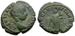 Ancient Coins - Elagabalus.  Thrace.  Philippopolis Æ19 / Hygieia Feeding Snake