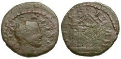 Ancient Coins - Geta Nicaea. Bithynia Æ14 / Temple