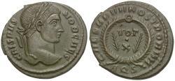 Ancient Coins - Crispus (AD 317-326) Æ Follis / Votive
