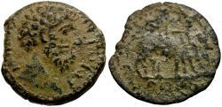 Ancient Coins - Marcus Aurelius. Cilicia. Ninica-Claudiopolis Æ16 / Oxen Ploughing