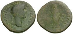 Ancient Coins - Antoninus Pius (AD 138-161) Æ Sestertius / Antoninus Sacrificing