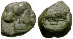 Ancient Coins - Sicily. Mercenaries. Uncertain Æ10 / Bull