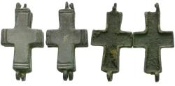 Ancient Coins - Byzantine Era Bronze Hinged Cross Pendant