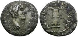 Ancient Coins - Antoninus Pius (AD 138-161). Imitative Fouree Denarius / Modius