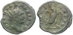 Ancient Coins - Divus Vespasian struck by Trajan Decius (AD 249-251) AR Antoninianus / Eagle