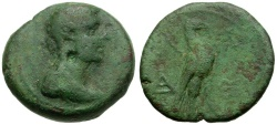 Ancient Coins - Lakonia. Lakedaimon (Sparta) Æ19 / Eagle
