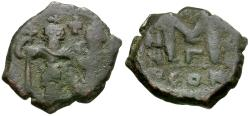 Ancient Coins - *Sear 810* Byzantine Empire. Heraclius (AD 610-641) with Heraclius Constantine Æ Follis