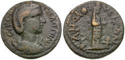 Ancient Coins - Salonina (AD 254-268). Caria. Aphrodisias Æ22 / Cultus Statue of Aphrodite