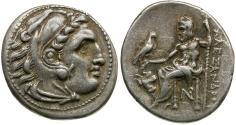 Ancient Coins - Kings of Macedon. Alexander III the Great (336-323 BC). Stuck under Antigonos I Monophthalmos. Strategos of Asia AR drachm