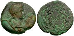 Ancient Coins - Augustus (27 BC-AD 14). Egypt. Alexandria Æ Obol / Wreath