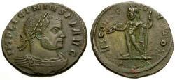 Ancient Coins - EF/EF Licinius I Æ3 / Jupiter