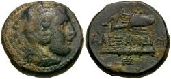 Ancient Coins - Kings of Macedon. Alexander III the Great (336-323 BC) Æ18  / Bow Case and Club