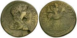 Ancient Coins - Septimius Severus. Lydia. Hypaepa Æ35 / Emperor on Horseback