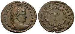 Ancient Coins - EF/EF Constantine II as Caesar Æ3 / Votive Wreath
